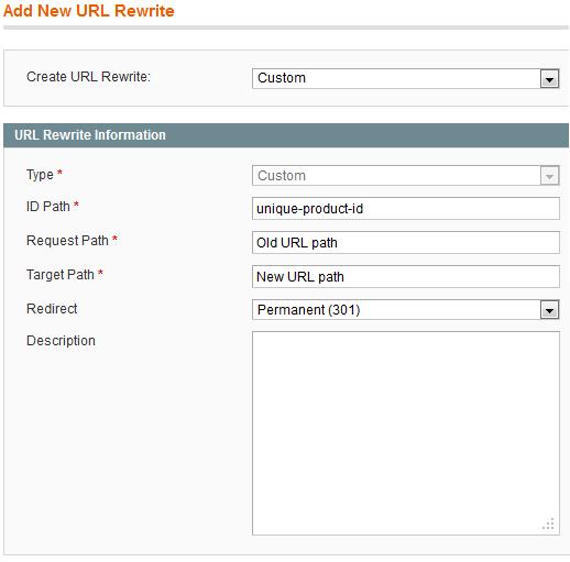 Add URL Rewrite Description