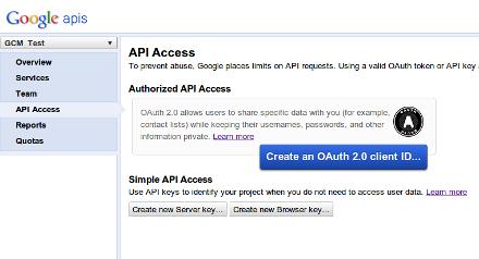 gcm-api-access